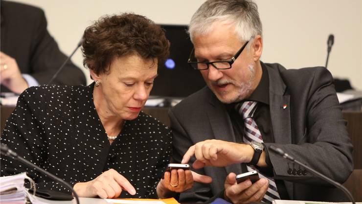Die Regierungsräte Esther Gassler (FDP) und Peter Gomm (SP) treten nicht mehr zur Wahl an. Ob die Grünen einen Kandidaten stellen, entscheidet sich noch. (Archiv)