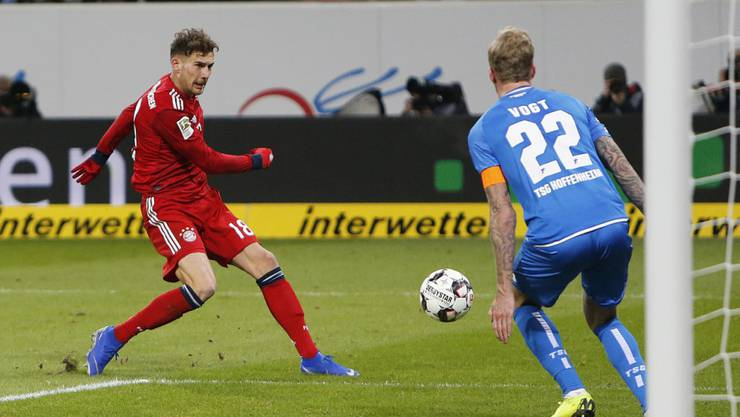 Leon Goretzka - hier beim 1:0 - zweifacher Torschütze für die Bayern