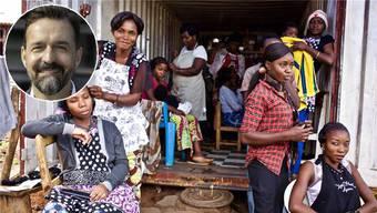 Berufsbildungsprojekte – im Bild eine Coiffeurschule im Kongo – sind die Kernkompetenz der Stiftung Swisscontact mit Geschäftsführer Samuel Bon (oben links).