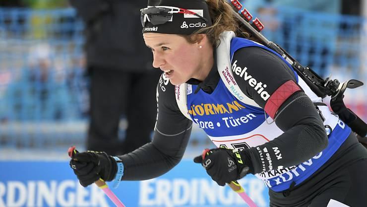 Kein Spitzenresultat in der Single-Mixed-Staffel: Irene Cadurisch