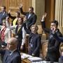 Die SVP-Fraktion im Bundeshaus – hier bei der Vereidigung nach den Wahlen – lehnt Mehrausgaben in der aktuellen Krise ab.