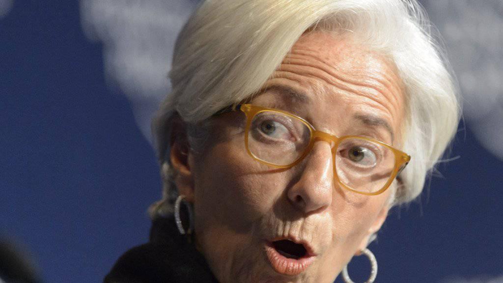 Kandidiert ein zweites Mal: IWF-Direktorin Christine Lagarde am WEF in Davos