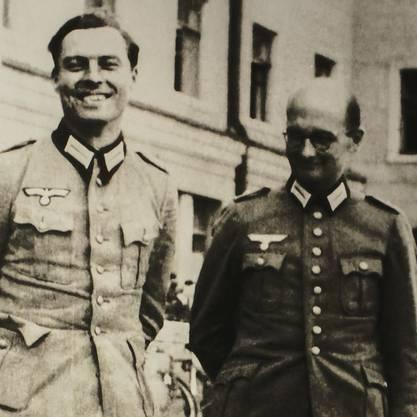 Zwei Verschwörer des 20. Juli 1944: Claus Schenk Graf von Stauffenberg (links) und Albrecht Ritter Merz von Quirnheim. Beide wurde in der Nacht des 20. Juli 1944 standrechtlich erschossen.