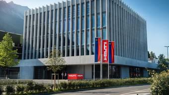 Der Baumaschinen-Hersteller Hilti aus Liechtenstein hat auch 2019 wieder zugelegt. Im Bild: Die Konzernzentrale im Schaan. (Archivbild)