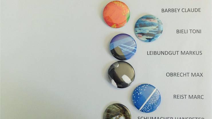 Die Künstler-Buttons mit Sammlerwert können noch bezogen werden.