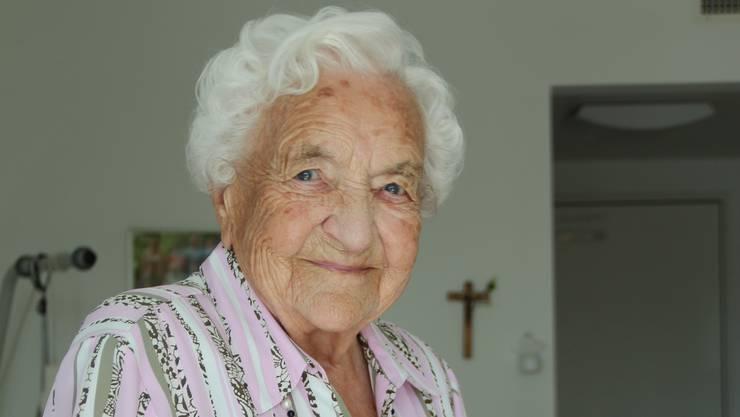 Maria Zubler-Meyer feiert ihren 100. Geburtstag.