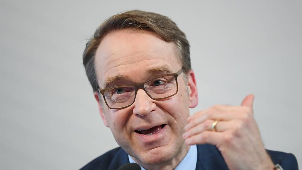 Die Deutsche Bundesbank vermeldet das zweitgrösste Staatsdefizit eines ersten Halbjahres seit der Wiedervereinigung. Im Bild Bundesbank-Präsident Jens Weidmann. (Archivbild)