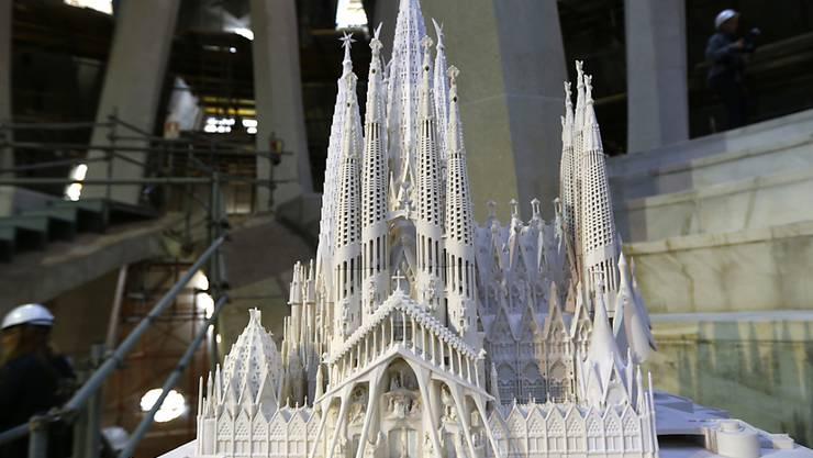 Die Sagrada Familia im Modell. So soll sie nach ihrer Vollendung aussehen