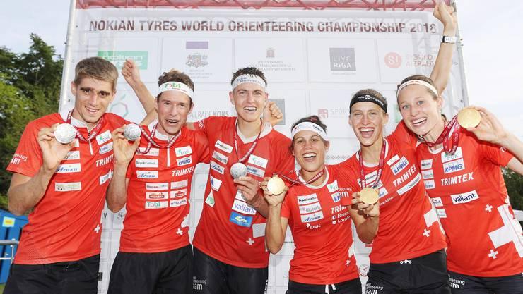 Gold für die Frauen-Staffel, Silber für die Männer – die WM 2018 in Lettland war für die Schweiz erfolgreich. Und jetzt ein Jahr später? (SWISS ORIENTEERING/Remy Steinegger)