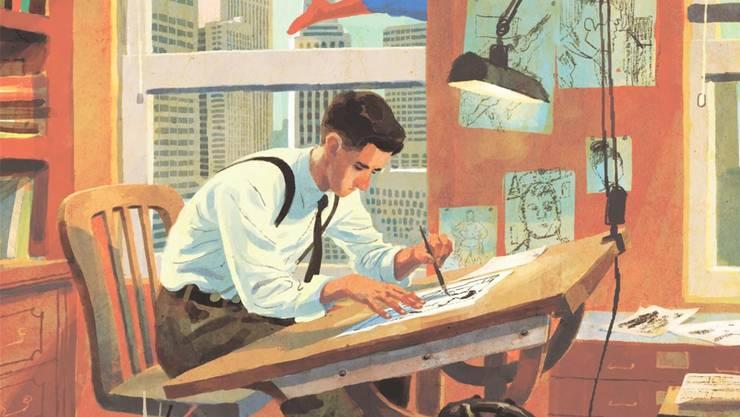 Stimmungsvolle Bildsprache: Der junge Joe Shuster erfindet Superman.