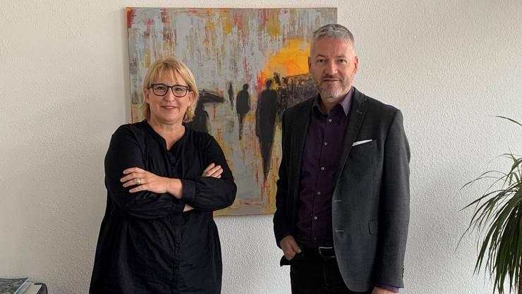 Marion Rauber und Thomas Marbet treten an.