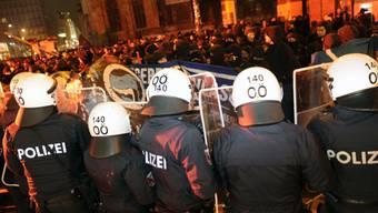 Grosses Polizeiaufgebot in Wien