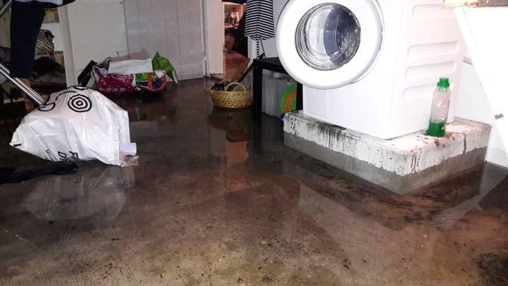 Im Kanton liefen zahlreiche Keller mit Wasser voll. Hier ein Keller in Solothurn.