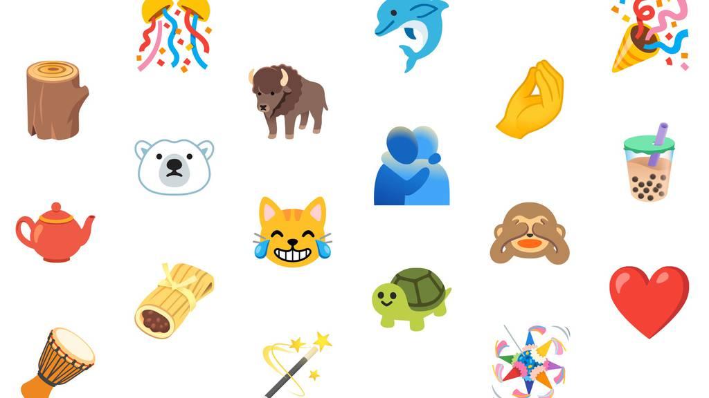 Herzen und Tiere: Neugestalteten Emojis von Google.