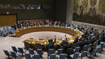 Die Mitglieder des UNO-Sicherheitsrates stimmen über die Resolution zu Syrien ab.