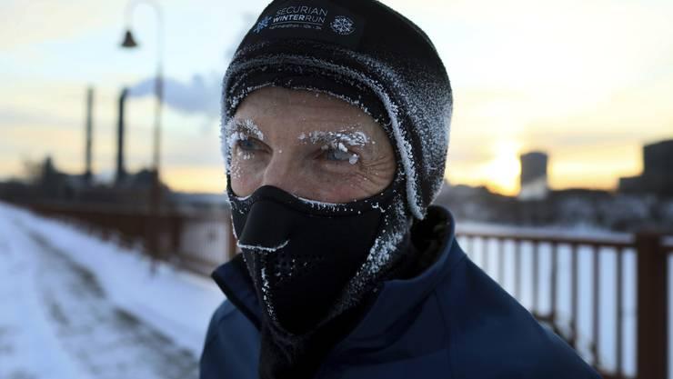 Er joggt noch immer: Evan Roberts am Dienstag in Minneapolis im US-Bundesstaat Minesota.