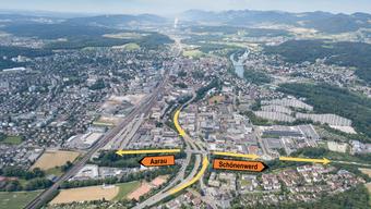 Der Verkehrsfluss ins Stadtzentrum oder in Richtung Kanton Solothurn wird umgeleitet.