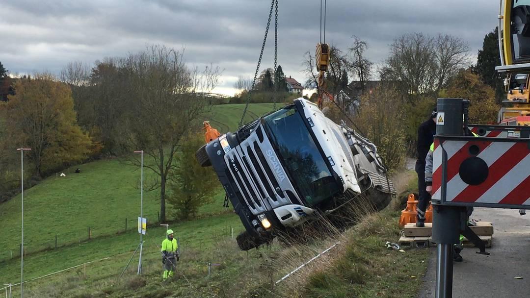 Unfall Milchtanklastwagen
