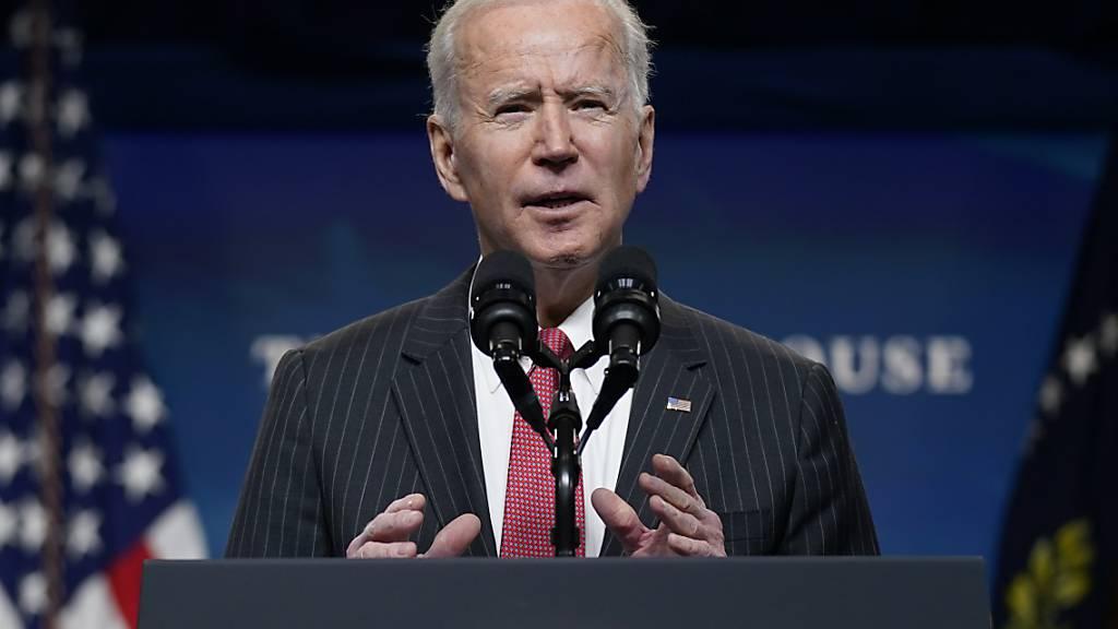 Joe Biden, Präsident der USA, wird als erster US-Präsident in der kommenden Woche an der Münchner Sicherheitskonferenz teilnehmen. Foto: Patrick Semansky/AP/dpa