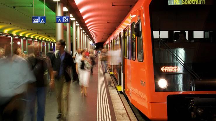 Der jetztige RBS-Bahnhof in Bern. (Archiv)