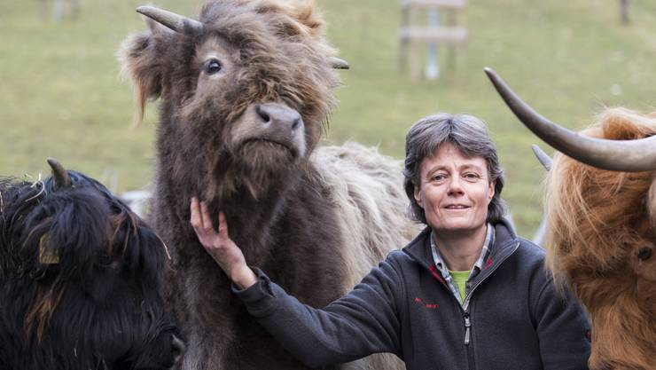 In der Natur und bei den Tieren fühlt sich Brigitte Vogel (SVP) ebenso wohl wie im Einwohnerratskollegium.
