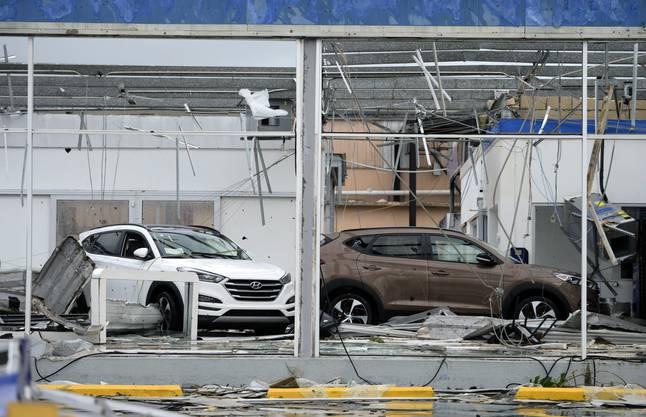 """Hurrikan """"Maria"""" hat mit Windgeschwindigkeiten von bis zu 250 Stundenkilometern in Puerto Rico grosse Schäden verursacht."""