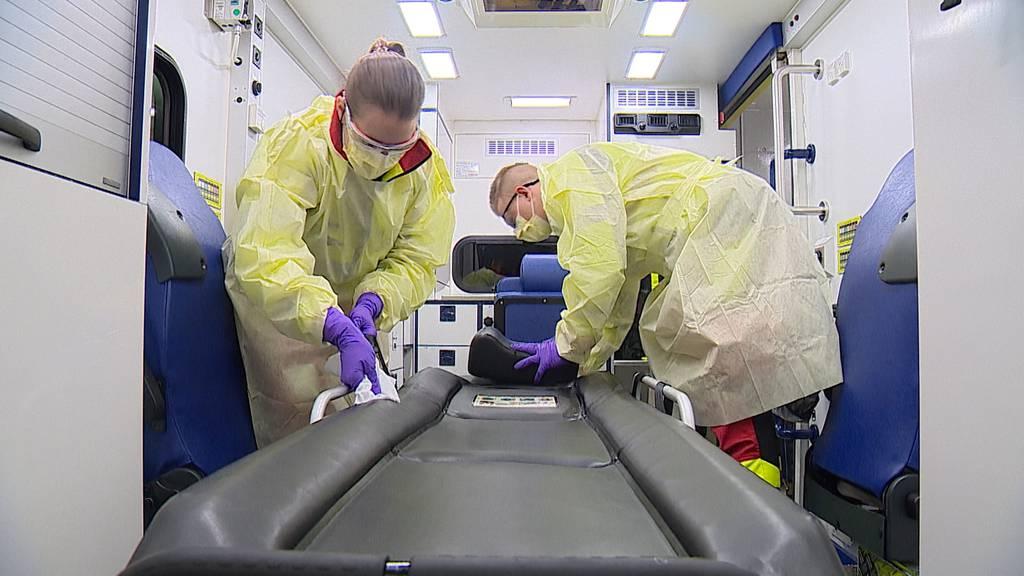 Bis zu 90 Minuten: So lange dauert die Desinfektion eines Rettungswagens