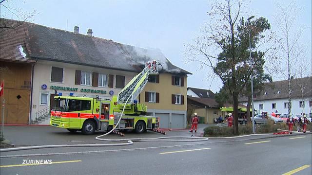 Brand in Gundetswil: Sachschaden von mehreren tausend Franken