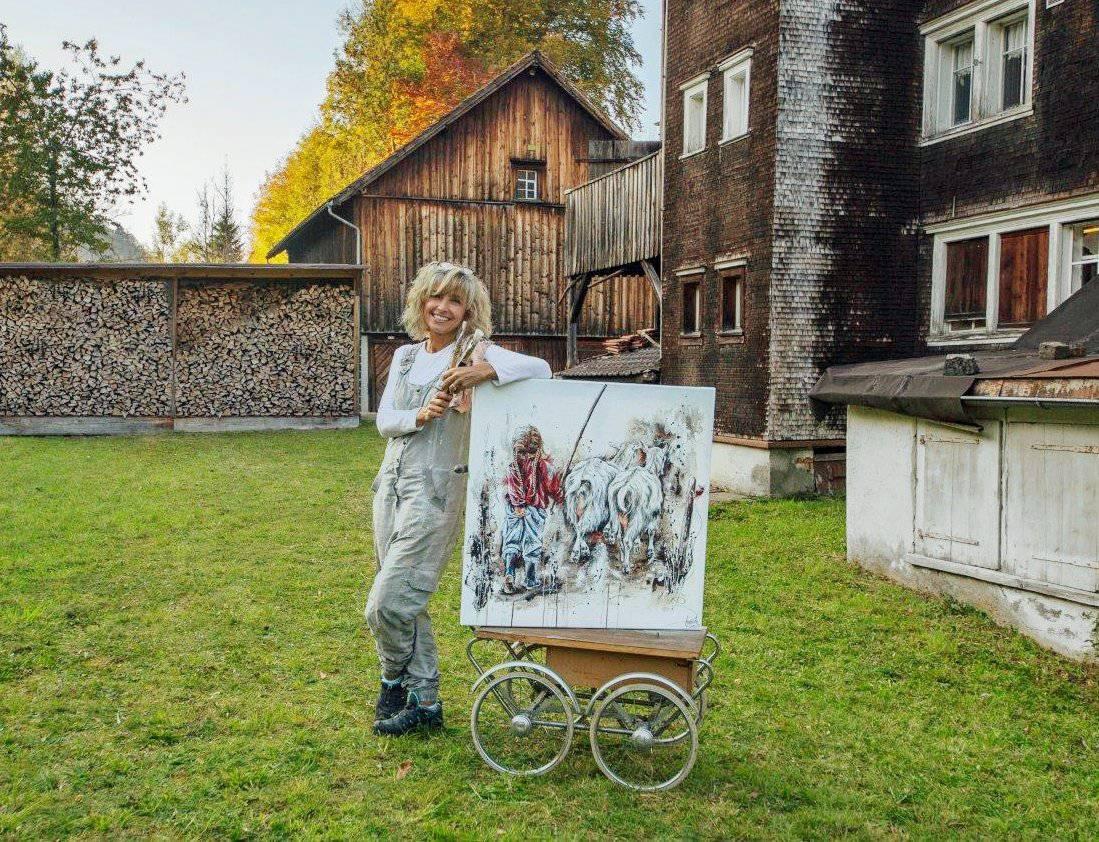 Carmela Inauen stellt ihre Bilder in der alten Lochmühle aus. (Bild: zVg)