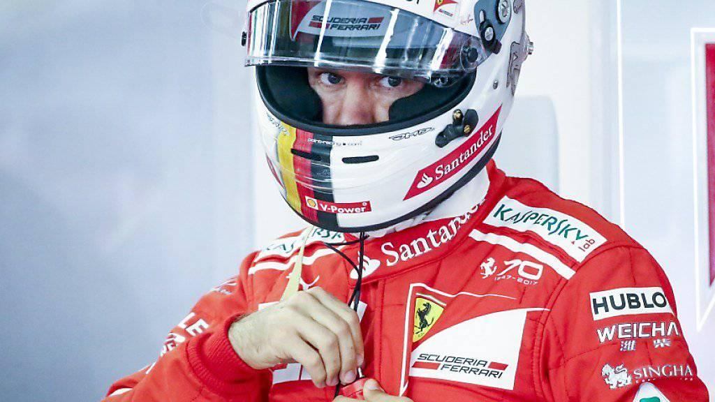 Bestzeit im einzigen richtigen freien Training: Sebastian Vettel