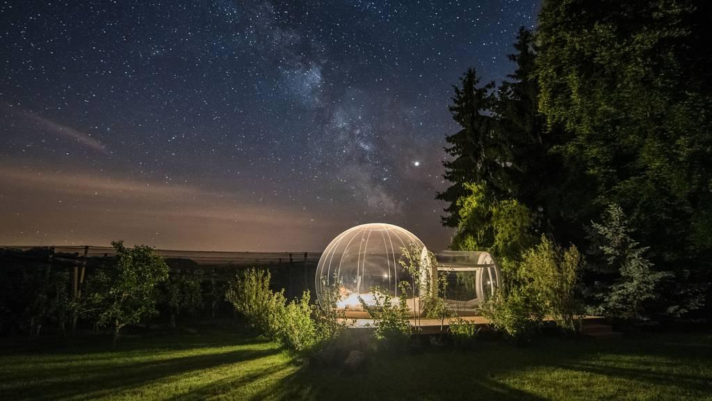 Kein Photoshop - nur eine klare Nacht in Altnau