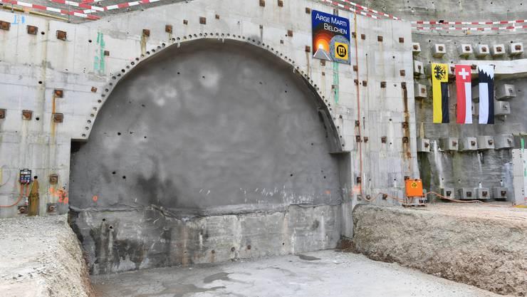 Kurz vor dem Durchstich des A2-Sanierungstunnels am Belchen am 21. Juni 2017