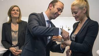 Ex-Miss Christa Rigozzi an der Baselworld