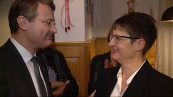 """Die Aargauer SVP feiert ihre frisch gewählte Regierungsrätin im Restaurant """"Gotthard"""" in ihrer Wohngemeinde Brugg."""