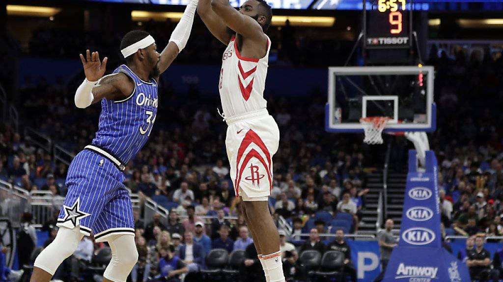 Trotz 38 Punkten: Es war nicht der Abend von James Harden (im weissen Rockets-Dress)
