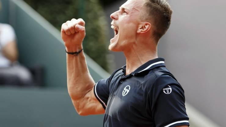 Im Final kaum gefordert: Marton Fucsovics gewann in Genf seinen ersten ATP-Titel