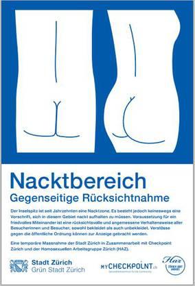 Plakat Nacktbereich