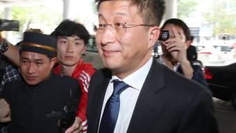 Er soll hingerichtet worden sein, weil er den nordkoreanischen Diktator Kim Jong Un enttäuscht hat: Kim Hyok Chol, Sondergesandter Pjöngjangs bei den Verhandlungen mit den USA (Aufnahme vom 21. Februar in Hanoi anlässlich des Treffens von Kim Jong Un mit US-Präsident Donald Trump).