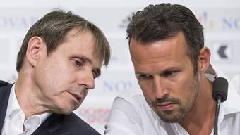Die neue Führung: FCB-Präsident Bernhard Burgener und Sportchef Marco Streller.