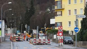 Am Montag gehts hier Richtung Wangen für alle Verkehrsteilnehmenden geradeaus.