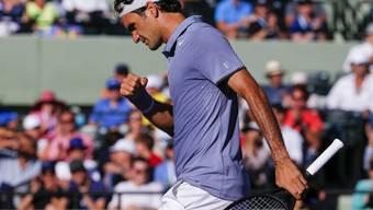 Roger Federer gewann gegen den Franzosen Richard Gasquet im Rekordtempo und steht im Viertelfinal von Miami.
