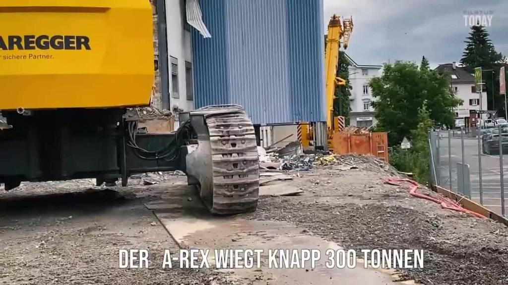 Europas grösster Rückbaubagger in Action