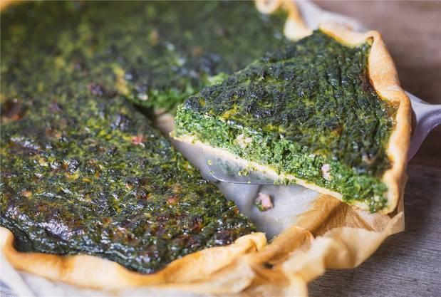 Das Spinatkuchenrezept hat Chefkoch Sascha Heimann entwickelt.