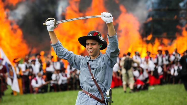 Freischarenmanöver: Das bunte Freiluft-Spektakel findet alle zwei Jahre am Jugendfest in Lenzburg statt. (Archivbild)