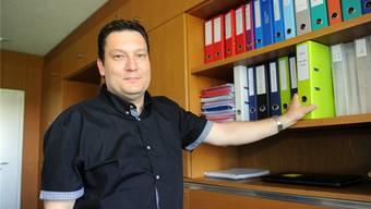 """Rolf Lüscher, Gemeindeschreiber von Kirchleerau: """"Die Jahre in der Privatwirtschaft waren sehr lehrreich und täten manch einem andern auch gut."""""""