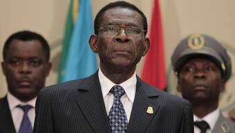 AU-Vorsitzender Teodoro Obiang Nguema sammelt in Addis Abeba Geld für Hungernde (Archiv)