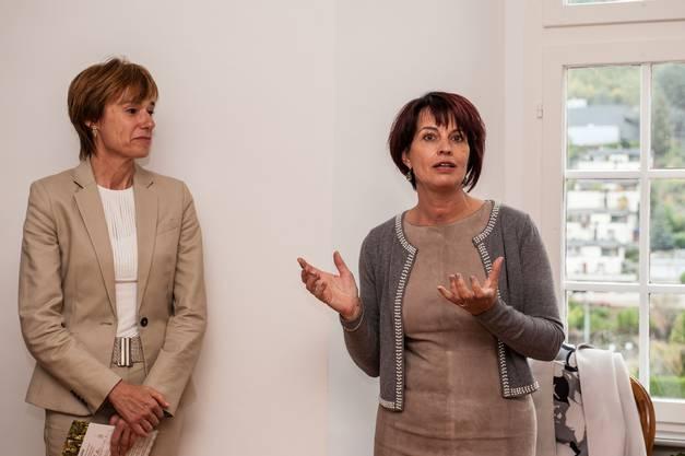 Bundesrätin Doris Leuthard war der Überraschungsgast in Klingnau