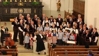 Die Bärgbrünnler probten zusammen mit dem Kinderchor den grossen Auftritt in der Eusebiuskirche.