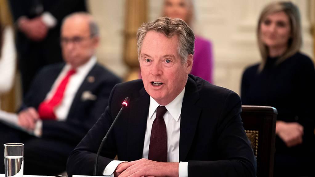 Laut dem Büro des US-Handelsbeauftragten Robert Lighthizer haben die USA gewisse Massnahmen gegen Frankreich wegen der Digitalsteuer beschlossen. (Archivbild)