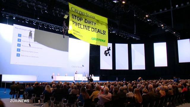 Credit Suisse GV: Greenpeace zieht Aufmerksamkeit auf sich